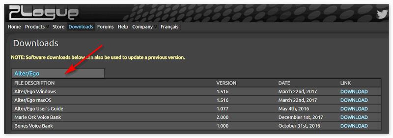 Alter_Ego на официальном сайте разработчика Plogue