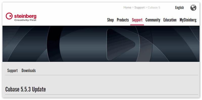 Cubase 5 на официальном сайте