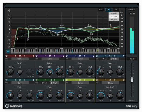 Cubase Pro Frequency EQ