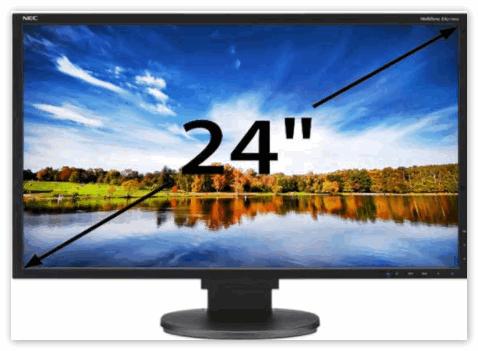 Экран с диагональю 24 дюйма