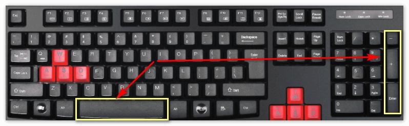 Горячие клавиши в Кубейс