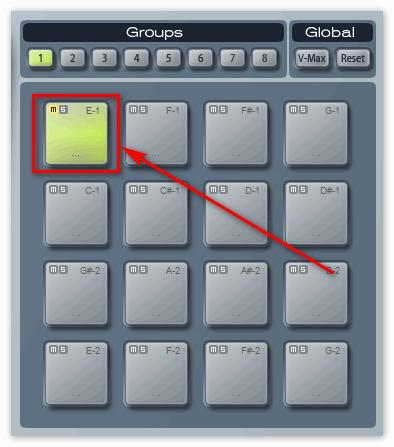 Кнопка Е-1 в Groove Cubase