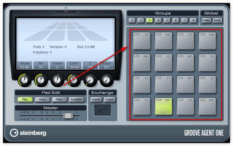 Кнопки для прослушки звуков в пресетах в Кубейс