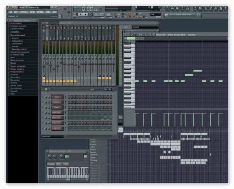Окно программы FL Studio