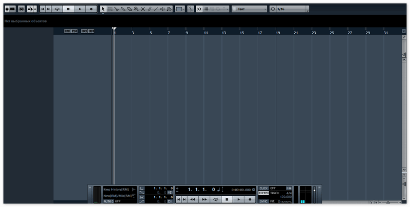 Окно работы со звуком в Кубейс
