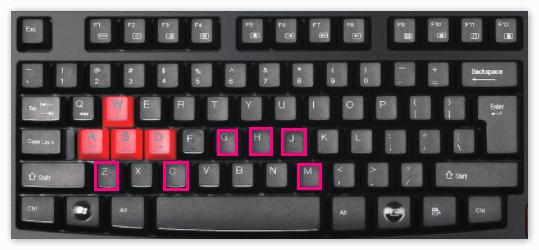 Отдельные кнопки в горячих клавишах Кубейс