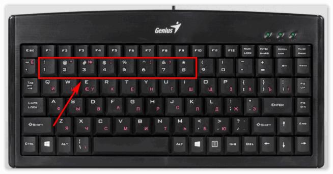 Цифры на клавиатуре отвечающие за команды в Кубейс